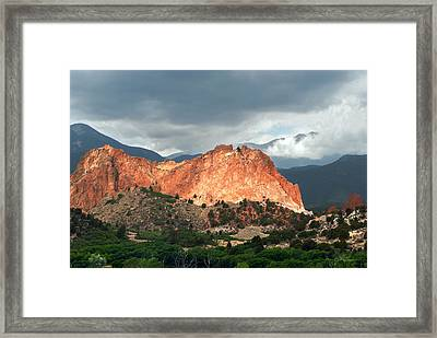 Garden Of The Gods Mountain Landscape Framed Print by Julie Magers Soulen