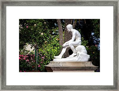 Garden Statue - Hearst Castle California Framed Print by Jon Berghoff