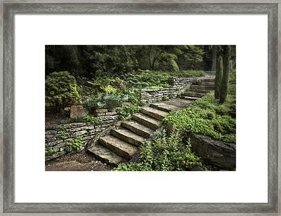 Garden Steps Framed Print by Tom Mc Nemar