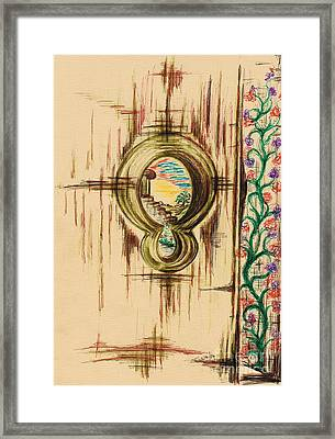 Garden Through The Key Hole Framed Print by Teresa White