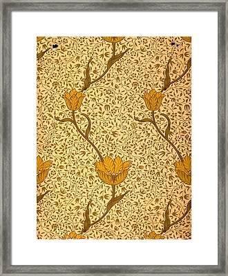 Garden Tulip Wallpaper Design Framed Print by William Morris