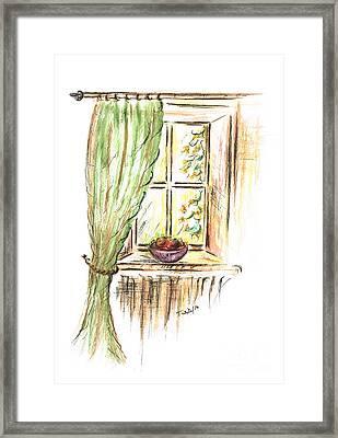 Garden View Framed Print by Teresa White