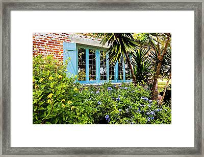 Garden Window Db Framed Print by Rich Franco