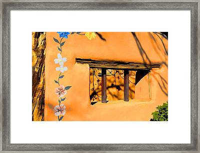 Garden Window Framed Print by Jan Amiss Photography