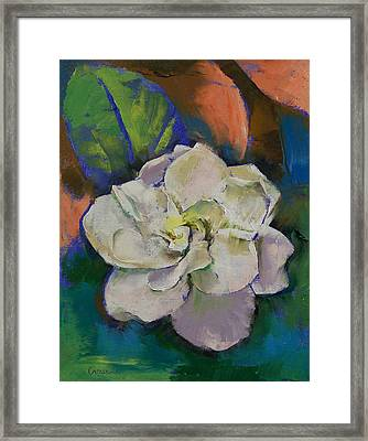Gardenia Framed Print by Michael Creese