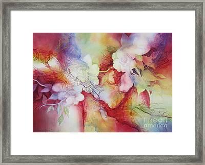 Gardenias Framed Print by Deborah Ronglien