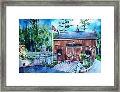 Gardening Shed Framed Print by Scott Nelson