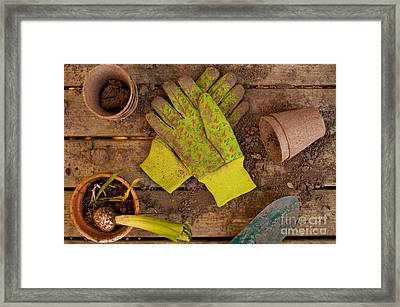 Gardening Still Life Framed Print by Jim Corwin