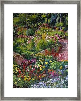 Garden's Edge Framed Print by William Bukowski