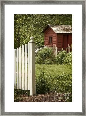 Garden's Entrance Framed Print by Margie Hurwich