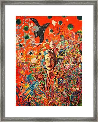 Gardens In My Soul Framed Print by Sarit  Jacobsohn