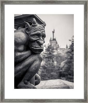 Gargoyle Framed Print by Adam Romanowicz