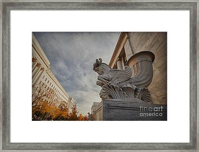 Statue Focus Framed Print by Terry Rowe
