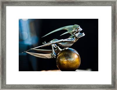 Gargoyle Hood Ornament Framed Print by Jill Reger