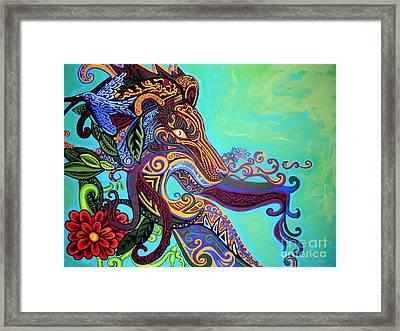 Gargoyle Lion 3 Framed Print by Genevieve Esson