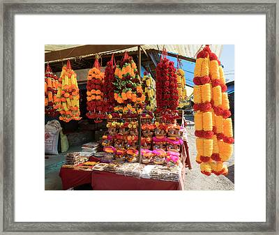 Garlands For Sale Framed Print by Panoramic Images