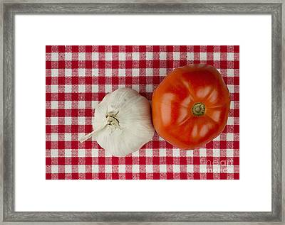 Garlic And Tomato Framed Print by Blink Images