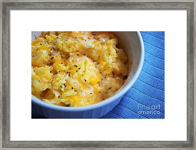 Garlic Cheesy Eggs Framed Print by Andee Design