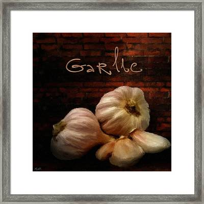 Garlic II Framed Print by Lourry Legarde