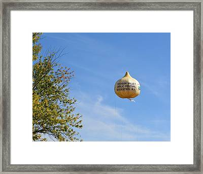 Garlic In The Air Framed Print by Judy Genovese