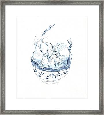 Garlic Framed Print by Kazumi Whitemoon