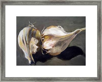 Garlic Framed Print by Sarah Lynch