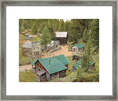 Garnet In Montana Framed Print by Guido Borelli