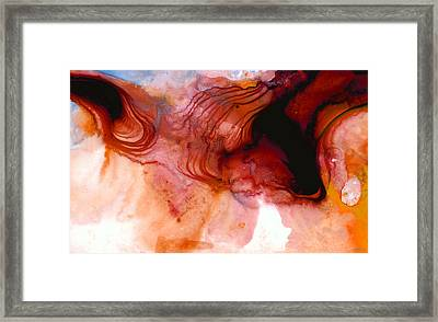 Garnet Sea - Abstract Art By Sharon Cummings Framed Print by Sharon Cummings