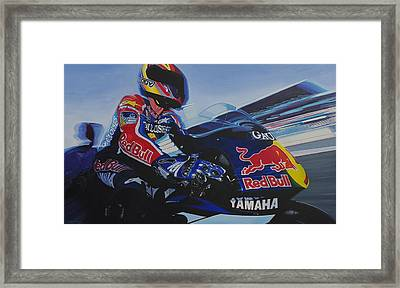 Garry Mccoy - Motogp Framed Print by Jeff Taylor