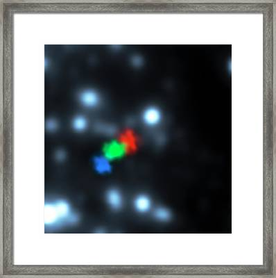 Gas Cloud-galactic Black Hole Approach Framed Print by S. Gillessen/european Southern Observatory