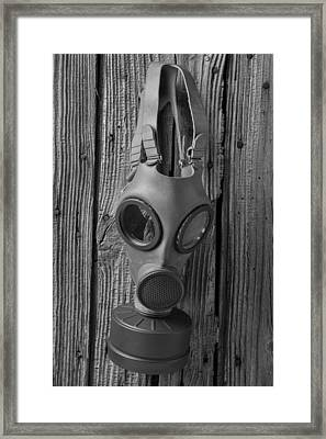 Gas Mask Framed Print by Garry Gay