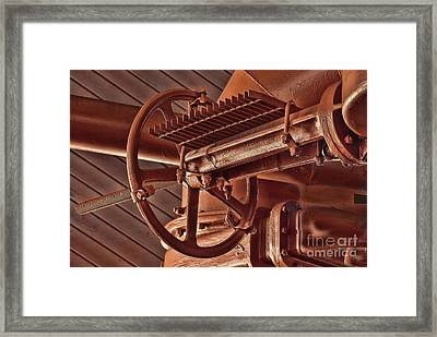 Gas Works Valve Wheel Framed Print by Noel Zia Lee