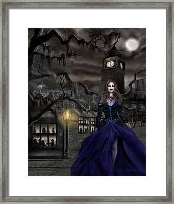 Drucilla - Gaslight Fantasia Cover Darkhair Framed Print by James Christopher Hill