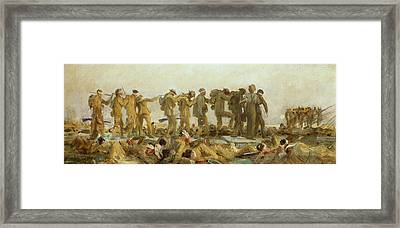 Gassed    An Oil Study Framed Print by John Singer Sargent