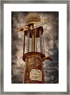Gassing Up In Jerome Framed Print by Priscilla Burgers