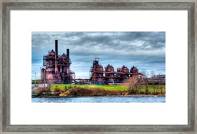 Gasworks Park In Seattle Washington Framed Print by David Patterson