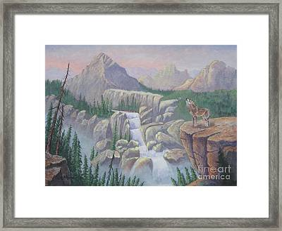 Gate Keeper Of The Canyon Framed Print by Bob Williams