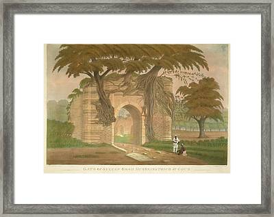 Gate Of Sultan Shah Hussein's Tomb Framed Print by British Library