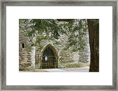 Gate Talin Medival City Wall Framed Print by Linda Phelps