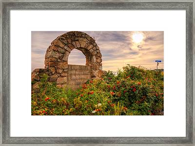 Gate To Nowhere  Framed Print by Eti Reid