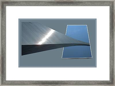 Gateway Arch St Louis 07 Framed Print by Thomas Woolworth