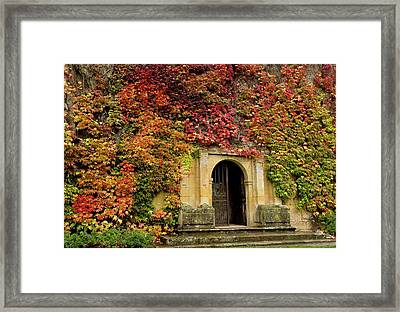 Gateway Covered In Virginia Creeper Framed Print by Bob Gibbons