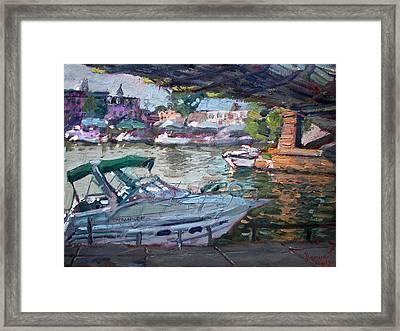 Gateway Harbor North Tonawanda Framed Print by Ylli Haruni