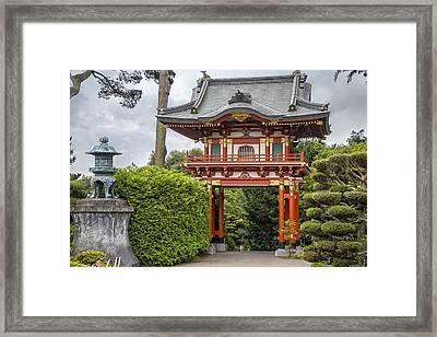 Gateway - Japanese Tea Garden - Golden Gate Park Framed Print by Adam Romanowicz