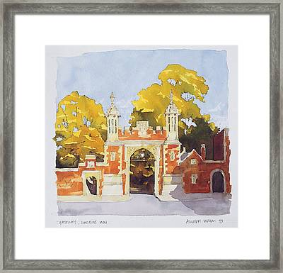 Gateway  Lincoln's Inn Framed Print by Annabel Wilson