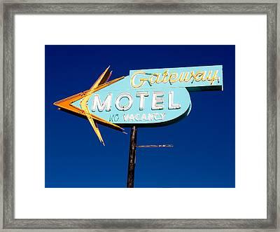 Gateway Motel Framed Print by Matthew Bamberg