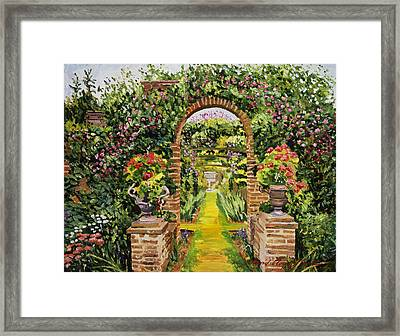 Gateway Of Brick Framed Print by David Lloyd Glover