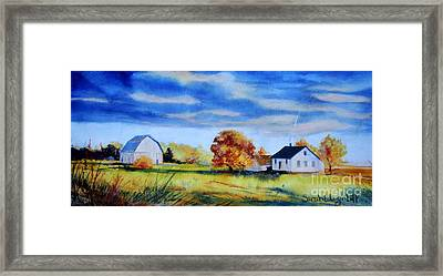 Gathering Clouds Framed Print by Sarah Luginbill