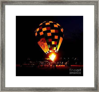 Gathering For Night Glow Framed Print by Robert Frederick