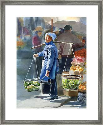 Gathering Greens Framed Print by Sharon Freeman